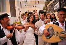 Santorini • Musicians • Greece