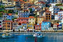 Greece • islands and landscapes / Greece has 230 inhabited islands, grouped into the following clusters: The Argo-Saronic Islands in the Saronic gulf, the Cyclades, a large but dense collection occupying the central part of the Aegean Sea, the North Aegean islands, a loose grouping off the west coast of Turkey, the Dodecanese, another loose collection in the southeast between Crete and Turkey, the Sporades, a small tight group off the coast of Euboea, and the Ionian Islands, located to the west of the mainland in the Ionian Sea.