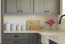 Kitchen Cabinet - Modern Country Style