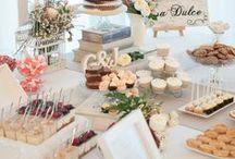 Mesas dulces / sweet buffet / Aquí encontraréis algunas de las mesas dulces que hemos preparado para eventos como comuniones, bodas o reuniones de empresa
