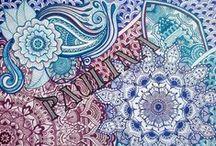 mandala * henna / * mandalas *gipsy * zentangle * mermaids * snowflakes * black & white * dandelions * doodles * mehndi * tattoo * / by Paulina