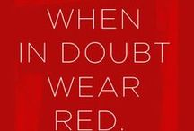red is love / Red colour ladies fashion