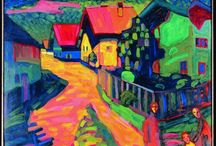 Kandinsky's Color Songs / Vasily Kandinsky 's paintings are visual melody's to me. His colors dance in rhythms. They make me happy. / by Vicky Miley