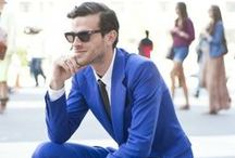 Blues shades trends for men / Navies, blue shades