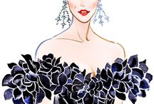 Illustration FashionArt  ♠️ / Fashion....hats.....art..... Deco.....  PIN UNLIMITED ONLY FOR MY FOLLOVERS