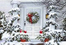 Christmas   atmosphere  ❄️ / Interior.....exterior.....decor......ideas... PIN UNLIMITED ONLY FOR MY FOLLOVERS similar images in my board SNOW ATMOSPHERE