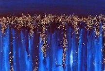 Mixed Media Paintings With Small Metal Cuttings / Gemälde mit kleinen Metallspänen