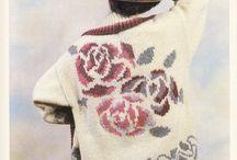 Knit jaquard floral