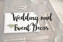 Wedding & Event Decor / I hope these picks will inspire you to create fabulous decor on your special day