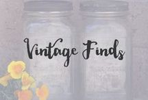 Vintage Finds / A handful of beautiful items that are reminiscent of the good old days and bring nostalgic sunshine your way.