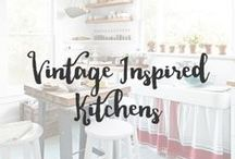 Vintage Inspired Kitchens / Being a lover of everything vintage, it's no surprise I would love to live in a space that is nostalgic. These kitchens may be vintage inspired but are certainly not a thing of the past.