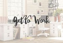 Get to Work / Being a freelancer and working from home, I cherish my work space tons. Its the one place I am the most creative and comfortable.