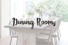 Dining Rooms / A dining room should be cozy and have the cohesive style that is expressed throughout your home. It's a main gathering space so, like the kitchen, it should feature elements that are important to you and not be cluttered.