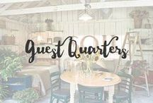 Guest Quarters / Having guests stay in your home should be fun. I always said I would love to have a b&b just so I could make sure people were comfy and had a beautiful place to stay. Why not turn your guest quarters into a wonderful place they wouldn't want to leave? Fun!