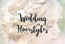 Wedding Hairstyles / Making sure your hair is done to match your outfit is an essential part of your big day. It doesn't have to be all done up, unless thats what you want, as long as it fits you and the style you are going for.