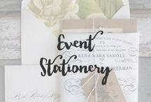 Event Stationery / Being a designer, I feel that presentation is everything. It should reflect who you are and make a statement. The invites and save the dates for your special day should give your guests a little sneak peek of whats to come. They don't have to be designed in the same format but reflect the style and theme of your wedding.