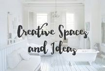 Creative Spaces & Ideas / I love great ideas and when I see spaces that inspire my heart skips a beat. Creativity rules!