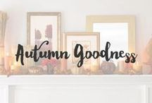 Autumn Goodness / Here I gather all the great ideas I see for autumn decorating, both outside and in. This is my favorite season of them all :)