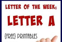 """Homeschool: Letter Aa / Everything you need to teach the Letter """"A""""."""