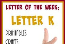 Homeschool: Letter Kk / Everything you need and more to teach the letter K to your preschooler.
