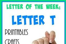 """Homeschool: Letter Tt / Everything you need to teach the Letter """"T"""" - including crafts, printables, activities, recipes, books and MORE!"""