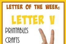 Homeschool: Letter Vv / Everything you need to teach the Letter V. Including {free} printables, activities, crafts, videos, books and recipes!