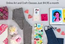 Creativebug Lookbook / Each month a collection of the Creativebug classes we're loving.