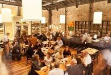 Restaurant Showrooms / Heritage Salvage has more than 70 showrooms around the SF Bay Area, and you can eat at all of them!  HS provides reclaimed tables, floors, bartops, ceiling treatments and more to our amazing Restaurant clients.
