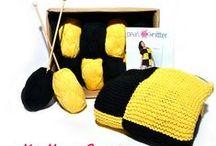 Lovely Kits / patrón + ovillos + agujas = aprender/divertirse tejiendo :)