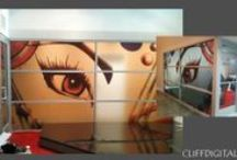 Window & Glass Design / Make the most of your windows! Get inspired with these beautiful examples of window graphics and displays that combine light and design.