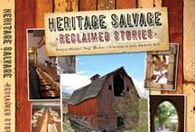 """Heritage Salvage: Reclaimed Stories / Heritage Salvage: Reclaimed Stories takes readers on a tour of the restaurants, bars, and furniture that Michael """"Bug"""" Deakin has crafted from repurposed materials otherwise destined for landfill. Sure to inspire readers to rethink the process of design and construction, Heritage Salvage shines a light on the beauty and potential of collapsing old barns and worn floorboards whose stories Deakin uses to tell new ones with his elegant and stylish designs."""