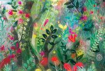 peinture jardin