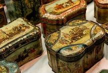 Antique biscuit tins