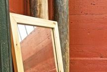 Mirrors / Mirrors framed in a reclaimed wood add not only a depth but a story to your space.