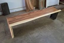 Benches / Benches are efficient to slide under a table, sit against the wall,or stand solo! Benches have a long history of useful and beautiful applications. Perhaps you need a storage bench or a garden bench? Consider this our Bench Press! We'd love to add reclaimed wood benches to your order. We dig it when they match your table. Handcrafted in our shop to beautify your home any way you want them!