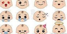 Cute emoticons set. Emoji Clipart. Kawaii. / Cute emoticons set. Emoji Clipart. Kawaii.