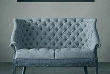 Stoffen meubels / banken, couches, stoelen, chairs, stof, fabric, modern