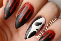 Halloween Nails / Nails for Halloween  - subscribe to my YouTube Channel ( Pernille Nyberg )