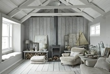 "Cottage / Ideas for small informal homes.  Raw, rough, and weathered materials that give a ""barefoot"" style.  For me the word cottage makes me think of a style that gets better with age. A style  where materials start show through worn paint."