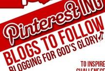 Blog love / Pinteresting blogs to follow. Women blogging for God's Glory. / by Melissa Deming