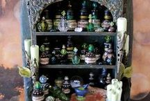 Halloween - apothecary & curiosity cabinet / by Yoni Yum