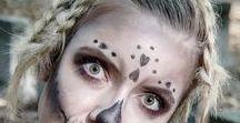 Frisuren für KARNEVAL • Halloween • Filmfrisuren / Hier findet ihr kreative, ausgefallene, gruselige, schöne, verträumte, zauberhafte und bunte Frisuren für Karneval, Fasching, Halloween. kreative Haare, bunter Haare, lange Haare, mittellange Haare
