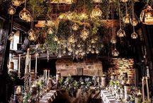 Bryllupslokalet / Inspirasjon til festlokalet; blomster, borddekking, pynt, lys, og alt annet som gjør festen magisk!