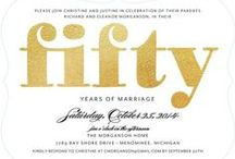 Anniversary Party Invitations / Celebrate wedding day memories with an anniversary celebration.  / by Wedding Paper Divas