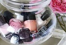 • STORAGE IDEAS • / Idea's on how to store your nail polishes