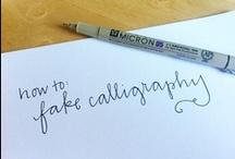 Handwriting/Calligraphy / by Ruth Ilena