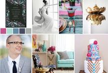 Bright Mod Wedding Ideas / Bright, mod colors.  Geometric with a boho vibe.