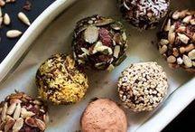 Vegane Pralinen / Vegane Pralinen, leckere Decorationen und Schokolade