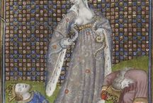 фон / средневековая книжнафя миниатюра