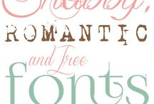 Fonts & Typography / by Lisa @ Over the Big Moon